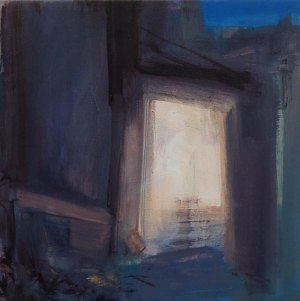 Painting of doorway by Eoin Mac Lochlainn for Home exhibition