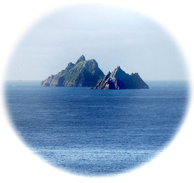 photo by Eoin Mac Lochlainn of Skellig from St Finian's Bay