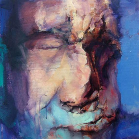 oil painting by Eoin Mac Lochlainn for Caoineadh/Elegies at the Linenhall Arts Centre, Castlebar 2008